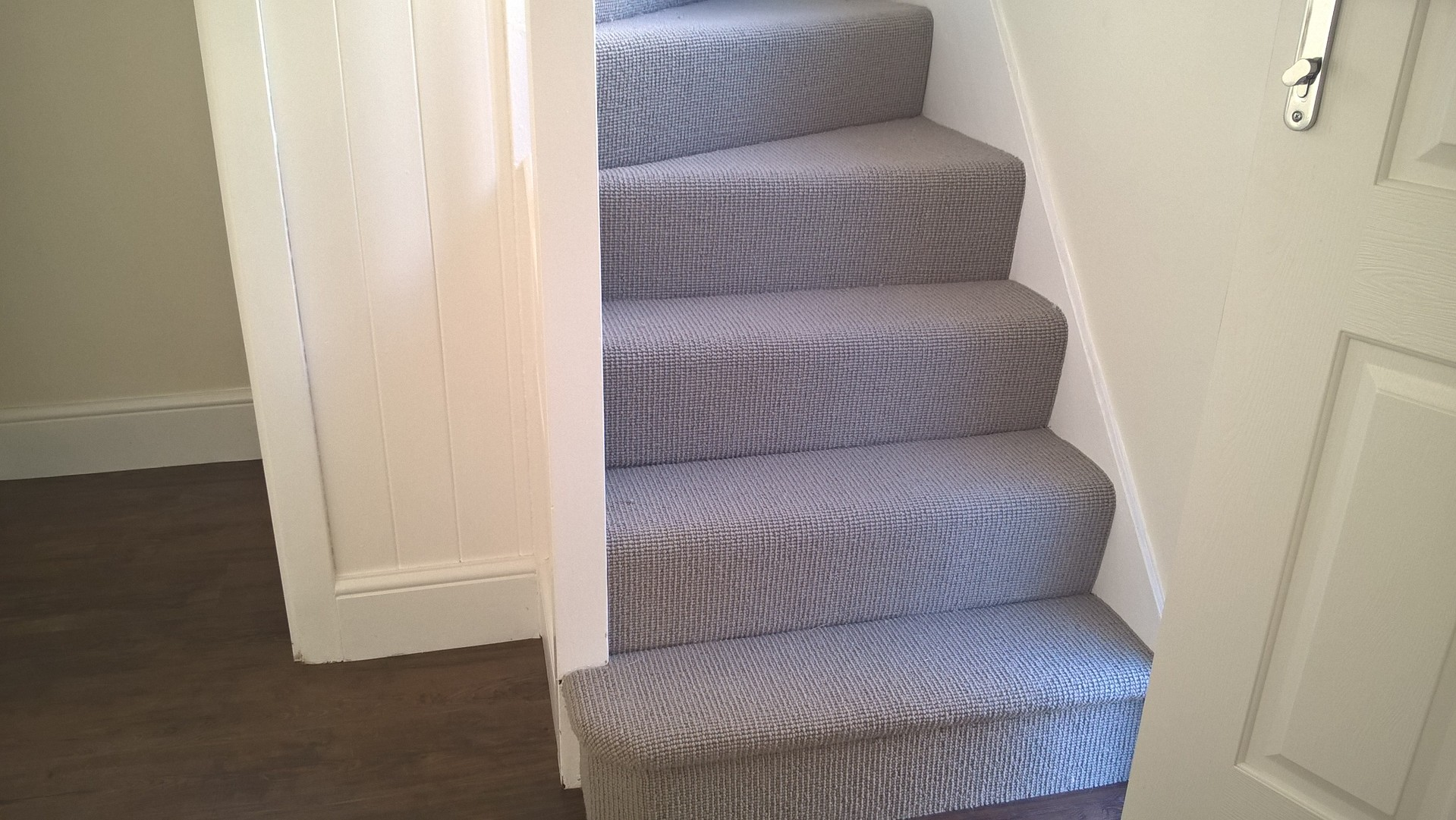 Man made carpets to stairs