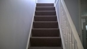 Natural carpets to stairs