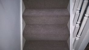 Natural carpets to stair