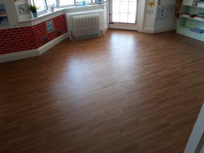 Class Room - Wood Strip Vinyl Flooring