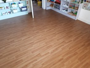 Class Room - Wood Strip Vinyl Flooring